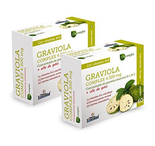 Graviola (Complex) 4.300 mg - Con graviola, uña de gato, vitamina B-1, vitamina B-2 y vitamina B-6-60 Capsulas (2 Unidades)