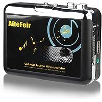 AiteFeir Kassette zu MP3 Konvertierer Ohne PC Kassetten Digitalisieren Konverter Tragbar USB Kassette KassttesSpieler Digital Konverter und Player zu MP3 Player Converter Durch USB Laufwerke