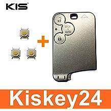 Kis® 3Tasten para llave tarjeta Carcasa para llave de Renault Laguna 2Espace 4+ 3x Micro pulsador