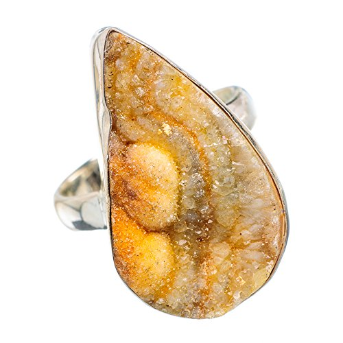 Drusen 925 Sterling Silber Ring 8.25 (Druzy-ring)
