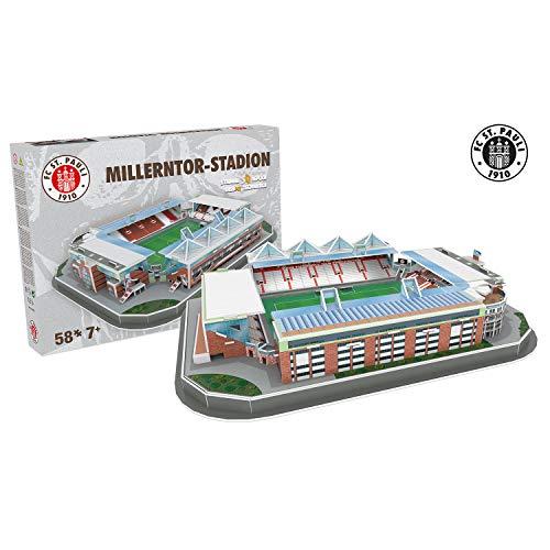 Nanostad 70490051 Stadion Millerntor St. Pauli Hamburg 3D Puzzle, Mehrfarbig