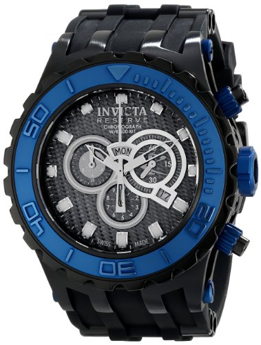 Invicta Men's Subaqua Quartz Watch with Black Dial Chronograph Display and Black Plastic Strap 80394
