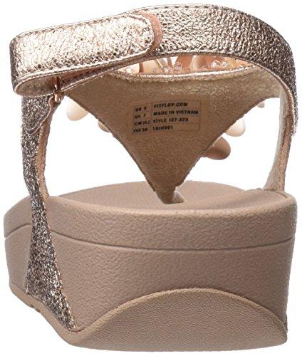 FITFLOP Boogaloo Back Strap Sandals, Sandali con Chiusura sul Retro Donna Rosa, oro (Rose Gold)