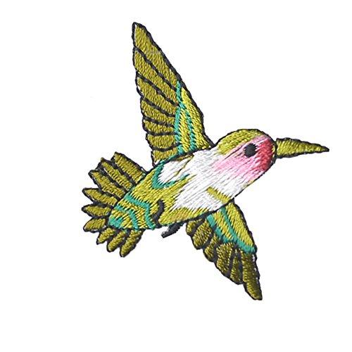 Haodasi 10pcs Vogel Stickerei Applique Tuch Aufkleber Eisen Nähende Flecken Abziehbild