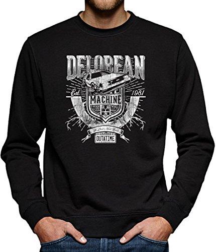 TLM Delorean Express DMC-12 Sweatshirt Pullover Herren XXXXL (In Kostüm Hoverboard Die Zurück Zukunft)