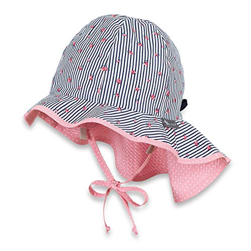 Sterntaler Baby-Mädchen Sun Hat with Neck Protection Sonnenhut, Blau (Marine 300),...