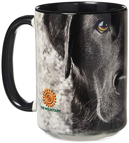 Erwachsene Schokolade Tee T-shirt (The Mountain 57325509001 Black Lab Face Kaffeetasse, 450 ml)
