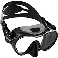 Cressi Tauchmaske Erwachsen F1 Dark Frameless Gafas de Buceo, Unisex, Negro, Talla única