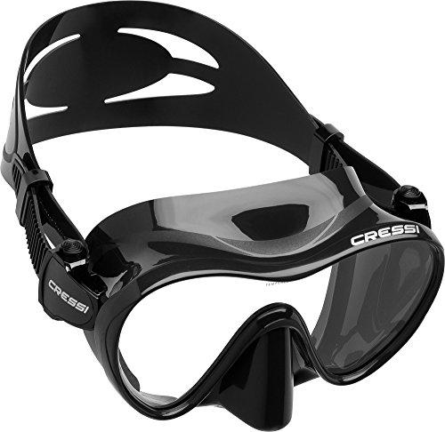 Cressi F1 Masque Plongee Snorkeling Adulte, Technologie Frameless Noir