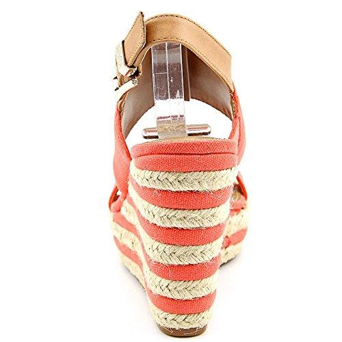 Vince Camuto Loran Synthétique Sandales Compensés Coral-Tan-Nat