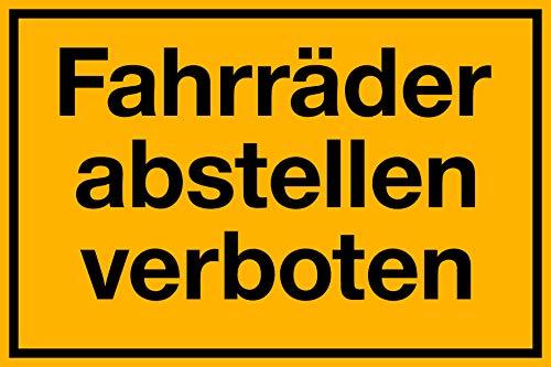Fahrräder abstellen verboten Schild 300 x 200 mm 1,5mm dick