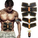 Muskeltrainer Elektrisch,SHENGMI Elektrostimulation Muskeltrainer Muskel Training Gewicht Verlust EMS training massage gerät Einfache fitness Leicht zu tragen für Männer Frauen Geschenk