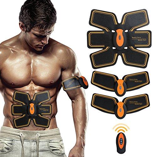 SHENGMI Cinturón de tonificación muscular abdominal, para entrenamiento, adelgazar, máquina de entrenamiento, gimnasio y casa, aparato de fitness para hombres mujeres (naranja negro)
