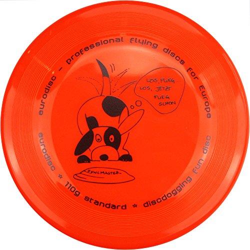 Eurodisc 110g Anerkannte Discdogging Scheibe für Hunde Frisbee, NEONORANGE -