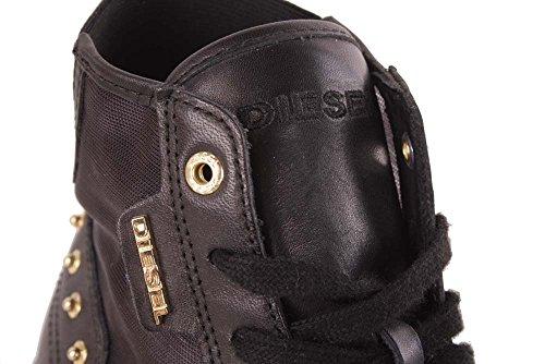 Diesel signore sneaker allacciata Lunedi Fever Nero