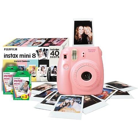 Fujifilm Instax Mini 8 - Cámara analógica instantánea, rosa