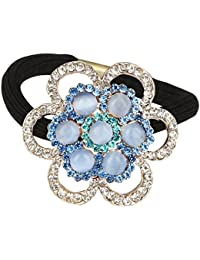 Pink Rose - Princess Collection Blue Alloy Stone Hair Band For Women/Girls