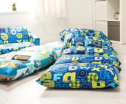 Children's Alphabet Print Folding Pillow Sleepover Nap Mat