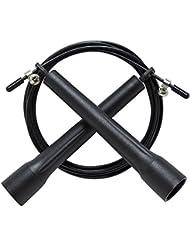 Cherbell Corde à Sauter Corde à Sauter de Vitesse Corde à Sauter de Crossfit Corde à Sauter Réglable Skipping Rope avec Longueur Réglable et Roulements à Billes