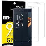 Panzerglas Sony Xperia X COMPACT, [2 Stück] NEWC® Tempered Glass 9H Härte, Frei von Kratzern Fingabdrücken und Öl, HD Displayschutzfolie, 0.33mm Ultra-klar, panzerglas schutzfolie für Sony Xperia X COMPACT