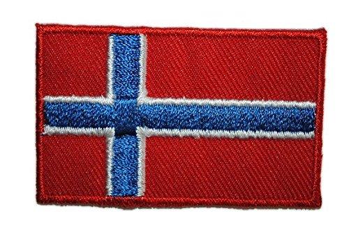 alles-meine.de GmbH Norwegen 6,2 cm * 3,9 cm Bügelbild Aufnäher Applikation Fahne Wappen Flagge