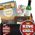 King of Grill | Geschenkbox mit Weißwein | beste Geschenke für Männer