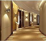 LH-LENORS Up Down Wall Lamp LED Modern Indoor Hotel Decorazione Luce Soggiorno Camera da Letto Comodino TV Immagine Lampade Aisle silver1 6w