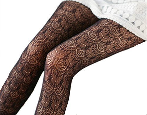 Swallowuk Damen Mädchen Sexy Lange Strümpfe Spitze Overknee Socken Strumpfhosen (Schwarz)