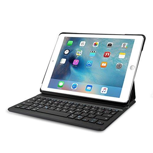 iPad Air 2 Bluetooth Tastatur, TeckNet Apple iPad Air 2 Bluetooth Folio Tastatur Case Hülle — Smart Case mit Auto Wake / Sleep Funktion, Komfortable Tasten und 6 Monate Akkulaufzeit zwischen den Ladungen (ausschließlich für iPad Air 2)
