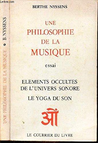 Une philosophie de la musique par Berthe Nyssens