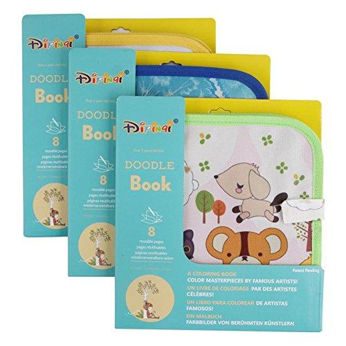 Livre Bébé Toucher, Livre de Dessin à la Craie Coloré de Livre de Tissu de Dessin Animé d'Enfants Livre des Découvertes Jouets Éducatifs pour Enfant Bébé