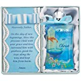 Blue Baptism Water Bottle Blue Bow and B...