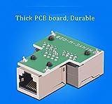 HUACAM HCM72 RJ45 CAT6 LAN Ethernet Port Splitter Adapter 1 zu 2 Dual Buchse Port Kupplung Weiblich zu Weiblich, 2 pack und schwarz Test
