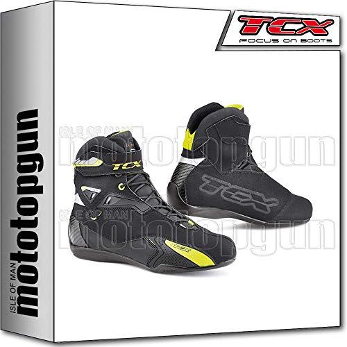 TCX Scarpe Stivali Moto 9505W Rush Waterproof Nero Giallo Fluo tg 38/5