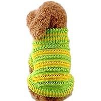 SAMGU Pet Natale per Cane Maglione maglia Crochet Cane Animale Domestico color verde size Medium