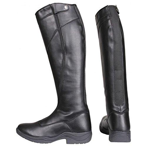 Horka Junior Thermo Riley chiusura elastica supporto in gomma suola stivali da equitazione Black