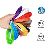 3D Pen Filament Refills - punson 1.75mm PLA ( Not ABS ) 275 Linear Feet of 12 Different Colors, 23 Feet Length Each Color, Dimensional Accuracy +/- 0.03mm