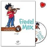 Fiedel-Max Schule für Violine Band 4 mit CD und bunter herzförmiger Notenklammer - Alfons Holzschuh Musikverlag - VHR380
