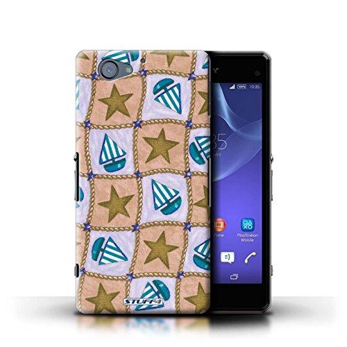 Kobalt® Imprimé Etui / Coque pour Sony Xperia A2 / Pêche/Violet conception / Série Bateaux étoiles Brun/Bleu