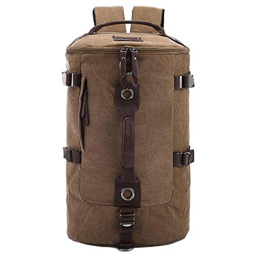 Canvas Backpack Rucksack Outdoor Leisure Reisen Large Rucksack große Leinwand Tasche small coffee