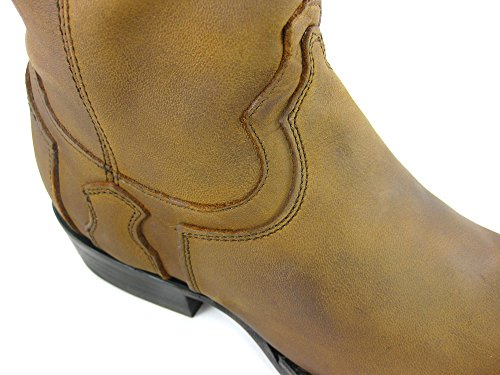 Cuadra Calf Leather Cowboy Boots for Men Braun Tonka
