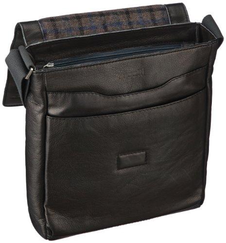 Bugatti Bags  Borsa Messenger, 7 L, Marrone nero