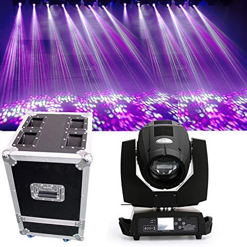 Scheinwerfer mit 17 Muster YUNRUX Kopf bewegen Strahler 230W Discolicht DJ Strobe Light Led Lampe PAR Bühnenbeleuchtung 7R Beam Lichteffekt DMX512 für DJ Disco Stage Party mit Box (Dj Lichter Bewegen)