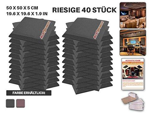 ace-punch-40-stcke-schwarz-flache-bbgeschrgt-akustikschaumstoff-dmmung-mit-freien-befestigungslasche