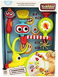 Bath Toy Submarine - Spray Station - Battery Operated Water Pump With Hand Shower And More