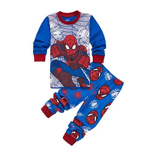 Pyjama Ensemble Bebe Pour Garçon Vêtements De Nuit Bébé 2-7 Enfants Hiver Coton Ensembles Enfants Vêtements,Spiderman-7T