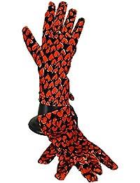 Moschino - Gants fantaisies Coeurs noir rouge