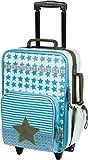Lässig Trolley Kindertrolley stabil Reisegepäck Kinder Reisekoffer Koffer mit Packriemen, 2-stufig höhenverstellbarem Griff, Reißverschlussfach, vorne separater Schuh-/Wäschebeutel, Starlight olive