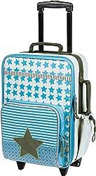LÄSSIG Kinderkoffer/ Trolley Kindergepäck/ Reisekoffer mit Teleskopgriff und Rollen/Kids Trolley, starlight olive