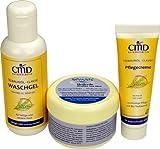 Natur-Mittel für Behandlung gegen Akne, Pickel, unreine, fettige Haut - Set: SIVASH-Heilerde-Gesichtsmaske 250g + Teebaumöl Waschgel 200ml + Pflegecreme 50ml